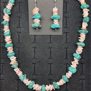 She'll and Magesite Necklace w/matching earrings